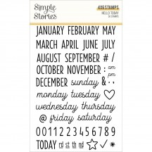 Simple Stories Hello Today Calendar Date Clear Stamp Set 14428