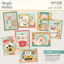 Simple Stories Hello Today Hello Friend Card Kit 14431