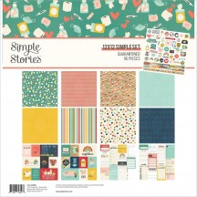 "Simple Stories Quarantined 12""x12"" Simple Sets Collection Kit 14500"