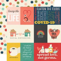 "Simple Stories Quarantined Quarantine Life 12""x12"" Double Sided Cardstock 14504"