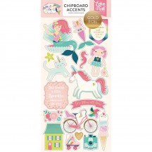 Echo Park Imagine That Girl Self Adhesive Chipboard Shape Stickers ITG146021