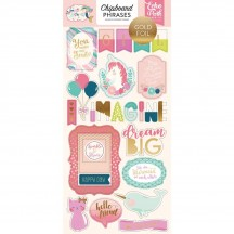 Echo Park Imagine That Girl Self Adhesive Chipboard Phrase Stickers ITG146022