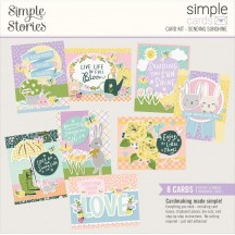 Simple Stories Bunnies & Blooms Sending Sunshine Card Kit 14628