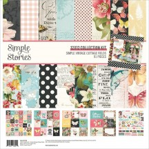"Simple Stories Simple Vintage Cottage Fields 12""x12"" Collection Kit 14700"