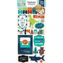 Echo Park Imagine That Boy Self Adhesive Chipboard Phrase Stickers ITB147022