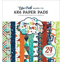 """Echo Park Imagine That Boy 6""""x6"""" Double-Sided Paper Pad 24 Sheets ITB147023"""
