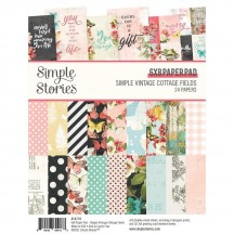 "Simple Stories Simple Vintage Cottage Fields 6""x8"" Double-Sided Paper Pad 14719"