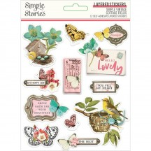 Simple Stories Simple Vintage Cottage Fields Layered Stickers 14726