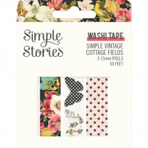 Simple Stories Simple Vintage Cottage Fields Washi Tape 3 Roll Pack 14728