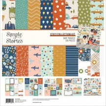 "Simple Stories Safe Travels 12""x12"" Collection Kit 14800"