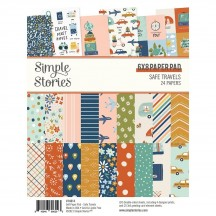 "Simple Stories Safe Travels 6""x8"" Double-Sided Paper Pad 14814"