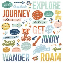 Simple Stories Safe Travels Foam Stickers 14820