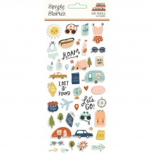 Simple Stories Safe Travels Puffy Stickers 14821