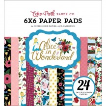 "Echo Park Alice In Wonderland 6""x6"" Double-Sided Paper Pad 24 Sheets AIW14823"