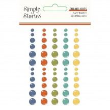 Simple Stories Safe Travels Enamel Dots 14823