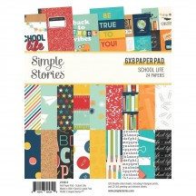 """Simple Stories School Life 6""""x8"""" Double-Sided Paper Pad 14914"""