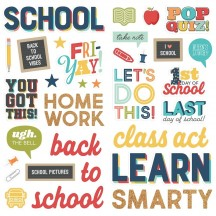 Simple Stories School Life Foam Stickers 14920