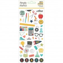 Simple Stories School Life Puffy Stickers 14921