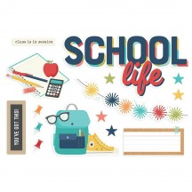 Simple Stories School Life Page Pieces Die-Cut Cardstock Embellishments 14927