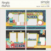 Simple Stories School Life Ready, Set, Learn Page Kit 14928