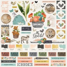 "Simple Stories Simple Vintage Farmhouse Garden 12""x12"" Cardstock Stickers 15001"