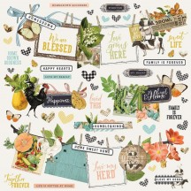 "Simple Stories Simple Vintage Farmhouse Garden 12""x12"" Banner Cardstock Stickers 15002"