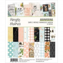 "Simple Stories Simple Vintage Farmhouse Garden 6""x8"" Double-Sided Paper Pad 15019"