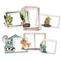 Simple Stories Simple Vintage Farmhouse Garden Chipboard Frames 15024