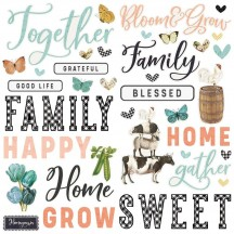 Simple Stories Simple Vintage Farmhouse Garden Foam Stickers 15025