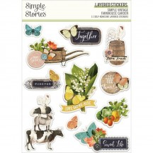 Simple Stories Simple Vintage Farmhouse Garden Layered Stickers 15026