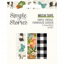 Simple Stories Simple Vintage Farmhouse Garden Washi Tape 3 Roll Pack 15028