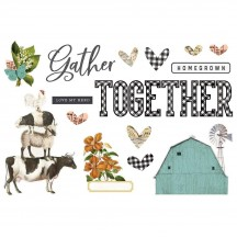 Simple Stories Gather Together Page Pieces Die-Cut Cardstock Embellishments 15031