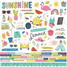 "Simple Stories Sunkissed 12""x12"" Cardstock Stickers 15101"