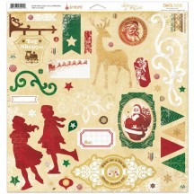 Bo Bunny Silver And Gold Self Adhesive Chipboard Accents 15115021