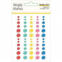 Simple Stories Sunkissed Enamel Dots 15122