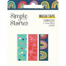 Simple Stories Sunkissed Washi Tape 3 Roll Pack 15123