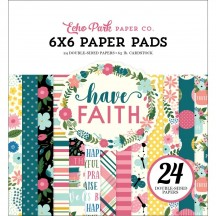 """Echo Park Have Faith 6""""x6"""" Double-Sided Paper Pad 24 Sheets HAF152023"""