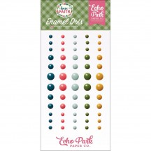 Echo Park Have Faith Enamel Dots teal, green, pink, yellow HAF152028