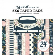 "Echo Park Just Married 6""x6"" Double-Sided Paper Pad 24 Sheets JM153023"