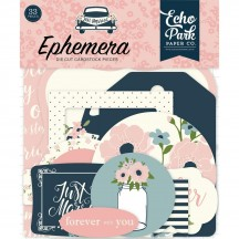 Echo Park Just Married Ephemera Die Cut Cardstock Pieces JM153024