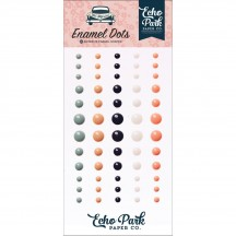 Echo Park Just Married Enamel Dots teal, pink, white JM153028