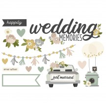 Simple Stories Happily Ever After Wedding Memories Page Pieces Die-Cut Cardstock Embellishments 15527