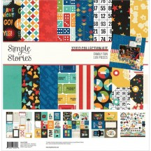 """Simple Stories Family Fun 12""""x12"""" Collection Kit 15600"""