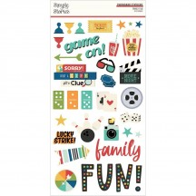 Simple Stories Family Fun Self Adhesive Chipboard Shape Stickers 15614
