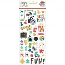 Simple Stories Family Fun Puffy Stickers 15618