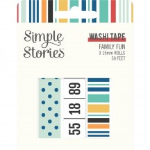 Simple Stories Family Fun Washi Tape 3 Roll Pack 15622