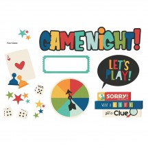 Simple Stories Family Fun Game Night Page Pieces Die-Cut Cardstock Embellishments 15625