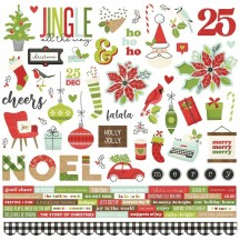 """Simple Stories Make It Merry Christmas 12""""x12"""" Cardstock Stickers 15701"""
