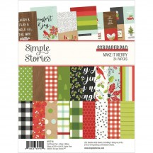 """Simple Stories Make It Merry Christmas 6""""x8"""" Double-Sided Paper Pad 15714"""