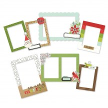Simple Stories Make It Merry Christmas Chipboard Frames 15720